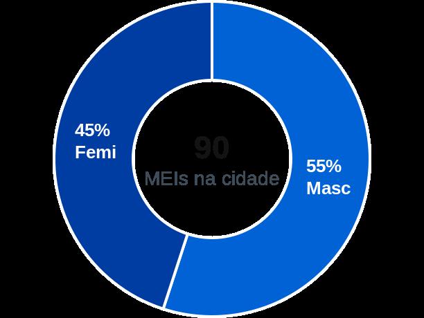 Gênero de MEIs na cidade de União de Minas