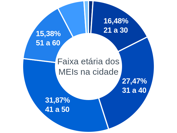 Faixa etária de MEIs na cidade de União de Minas