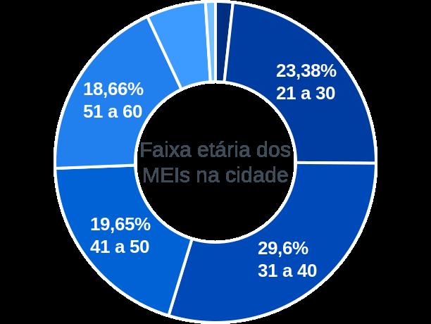 Faixa etária de MEIs na cidade de Antônio João