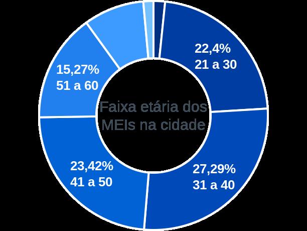 Faixa etária de MEIs na cidade de Brasilândia