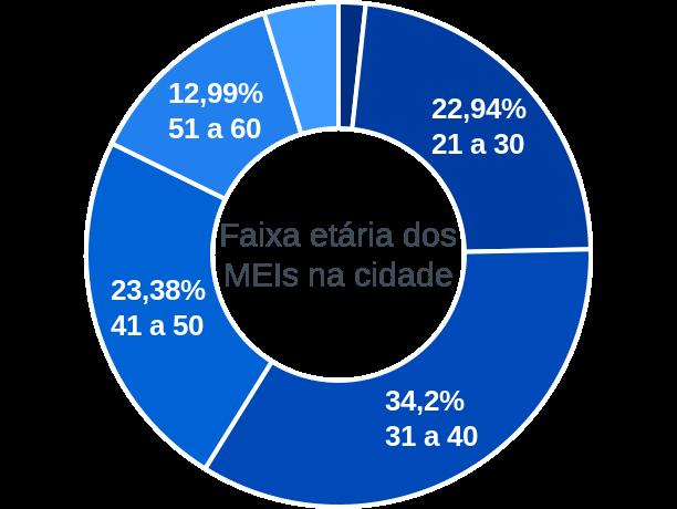 Faixa etária de MEIs na cidade de Paranhos
