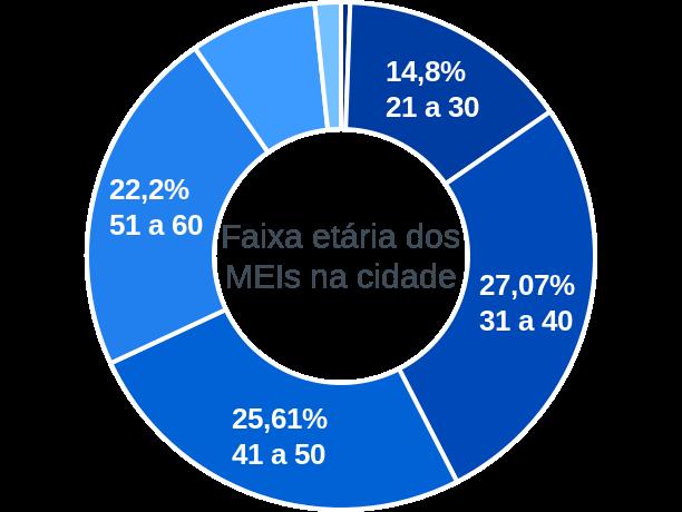 Faixa etária de MEIs na cidade de Rio Verde de Mato Grosso