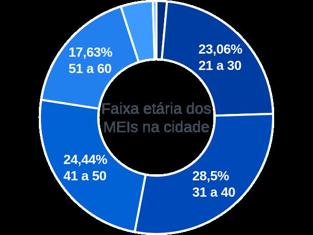 Faixa etária de MEIs na cidade de Barra do Bugres