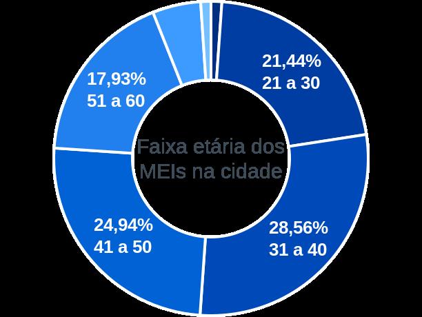 Faixa etária de MEIs na cidade de Canarana