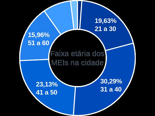 Faixa etária de MEIs na cidade de Chapada dos Guimarães