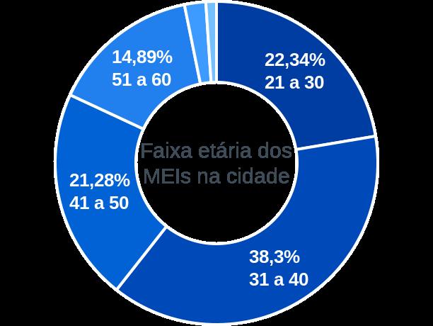 Faixa etária de MEIs na cidade de Figueirópolis D'Oeste