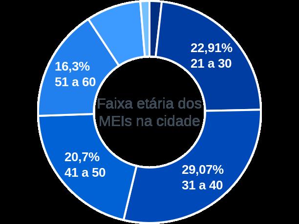 Faixa etária de MEIs na cidade de Nova Brasilândia