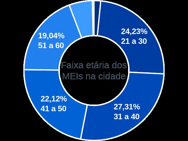 Faixa etária de MEIs na cidade de Pontal do Araguaia