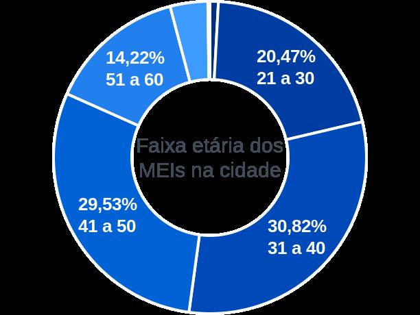Faixa etária de MEIs na cidade de Porto Alegre do Norte