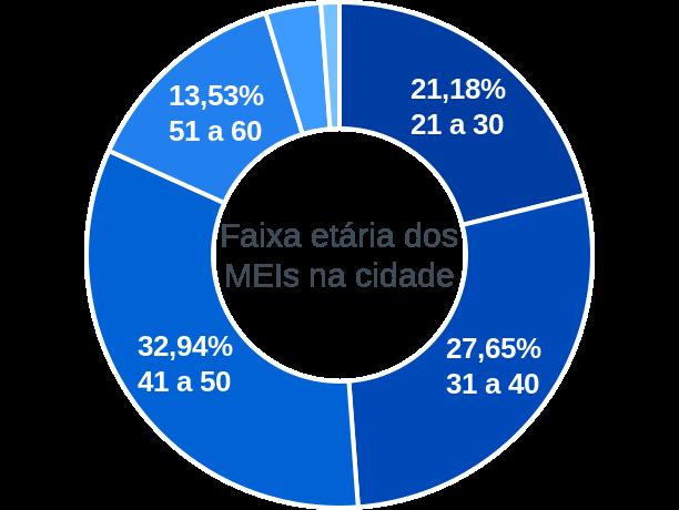 Faixa etária de MEIs na cidade de Ribeirãozinho