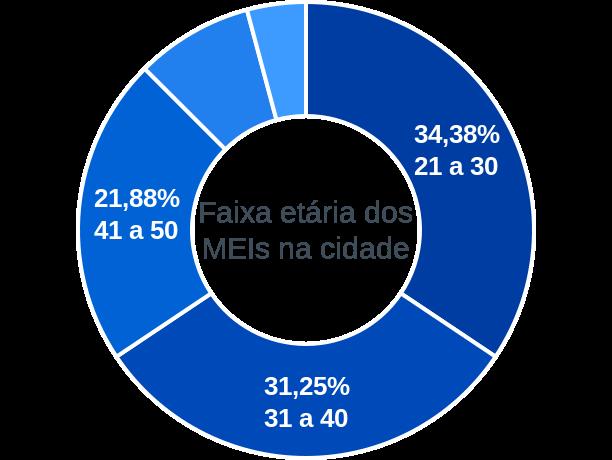 Faixa etária de MEIs na cidade de Rondolândia