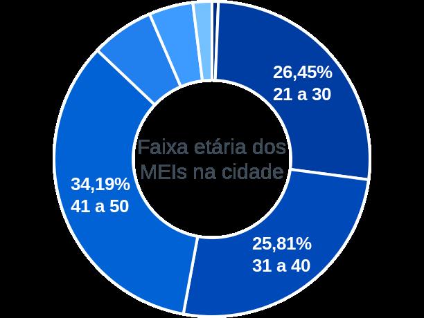 Faixa etária de MEIs na cidade de Santo Antônio do Leste