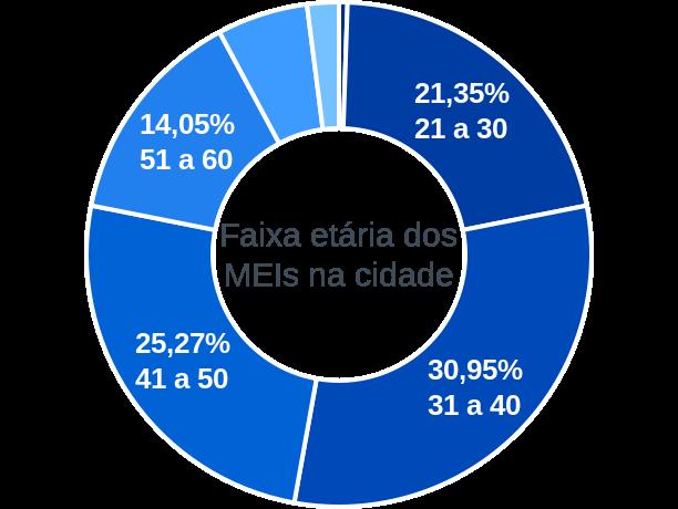 Faixa etária de MEIs na cidade de Santo Antônio do Leverger