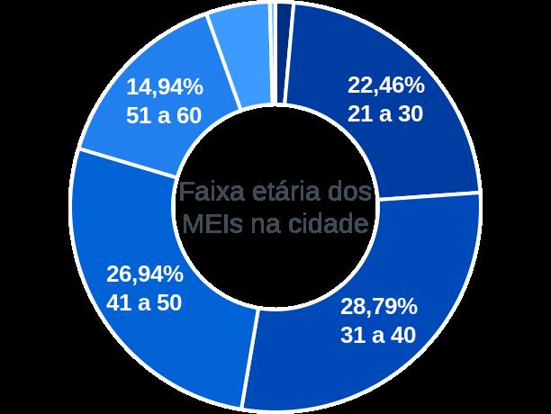 Faixa etária de MEIs na cidade de São José dos Quatro Marcos
