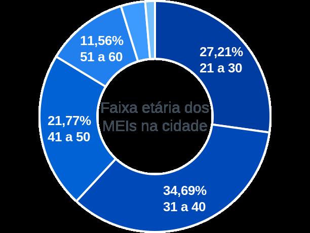 Faixa etária de MEIs na cidade de Abel Figueiredo