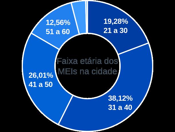 Faixa etária de MEIs na cidade de Água Azul do Norte