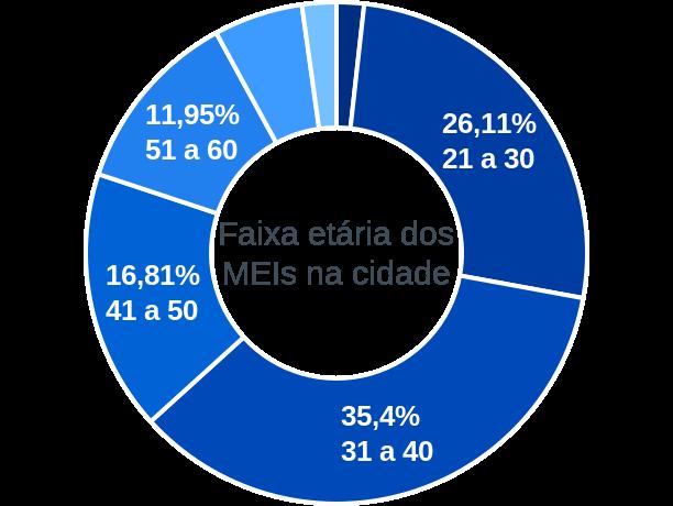 Faixa etária de MEIs na cidade de Cachoeira do Arari