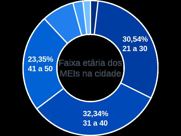 Faixa etária de MEIs na cidade de Cachoeira do Piriá