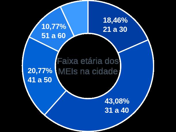 Faixa etária de MEIs na cidade de Faro