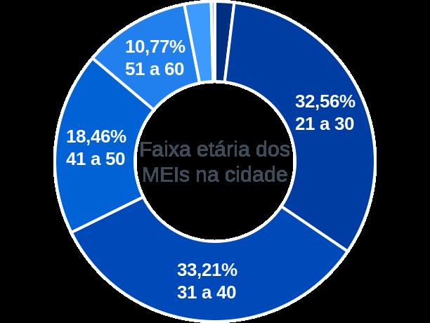 Faixa etária de MEIs na cidade de Porto de Moz