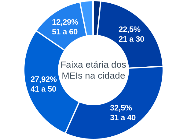 Faixa etária de MEIs na cidade de Rio Maria
