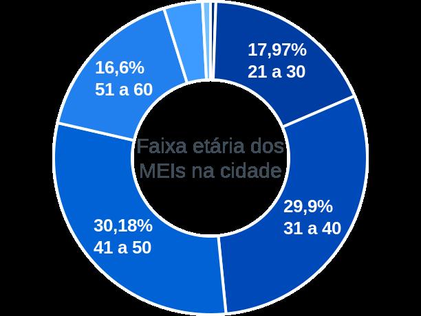 Faixa etária de MEIs na cidade de Santa Bárbara do Pará
