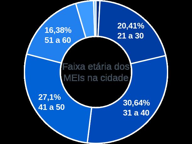 Faixa etária de MEIs na cidade de Santa Izabel do Pará