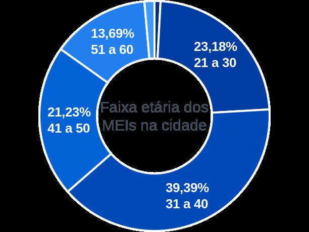 Faixa etária de MEIs na cidade de Santa Luzia do Pará