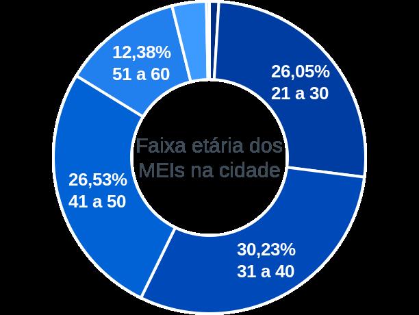 Faixa etária de MEIs na cidade de Santo Antônio do Tauá
