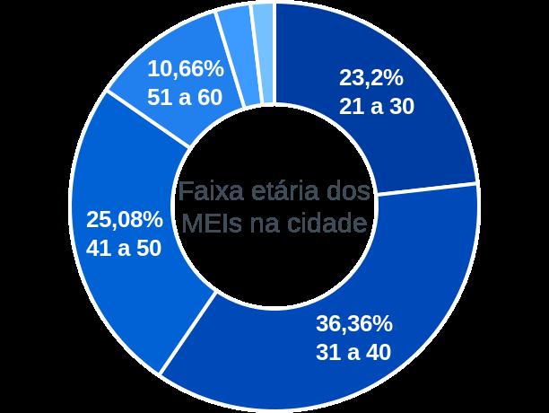 Faixa etária de MEIs na cidade de São Caetano de Odivelas