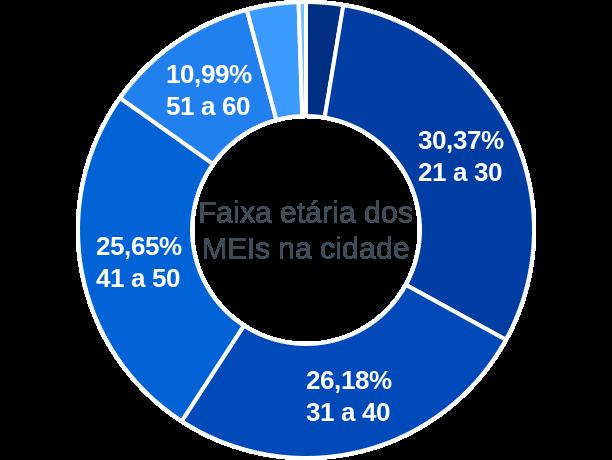 Faixa etária de MEIs na cidade de São Domingos do Capim