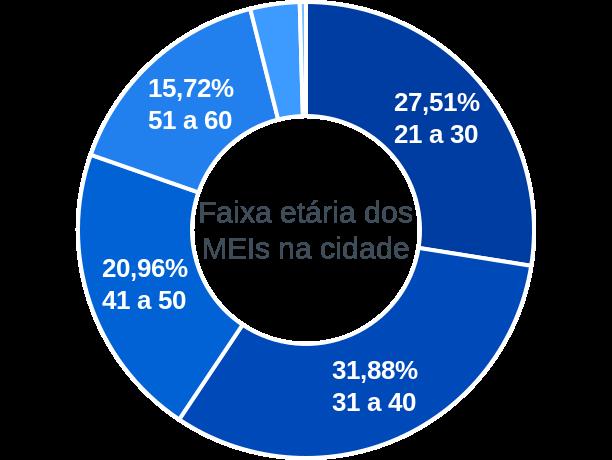 Faixa etária de MEIs na cidade de São Francisco do Pará