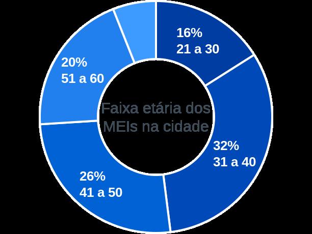 Faixa etária de MEIs na cidade de São João da Ponta