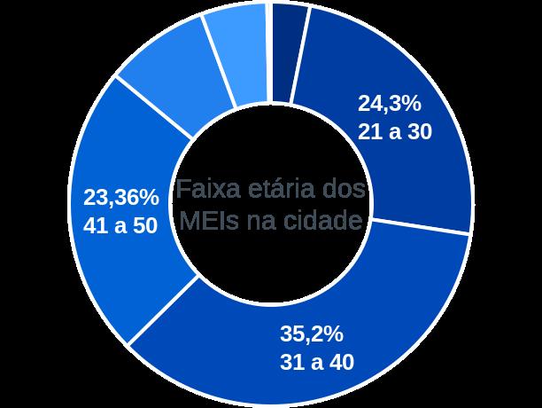 Faixa etária de MEIs na cidade de São Sebastião da Boa Vista