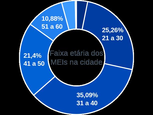 Faixa etária de MEIs na cidade de Senador José Porfírio