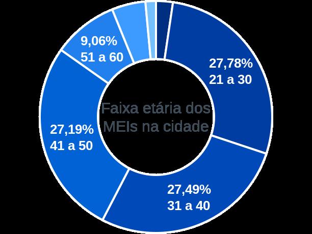 Faixa etária de MEIs na cidade de Barra de Santa Rosa
