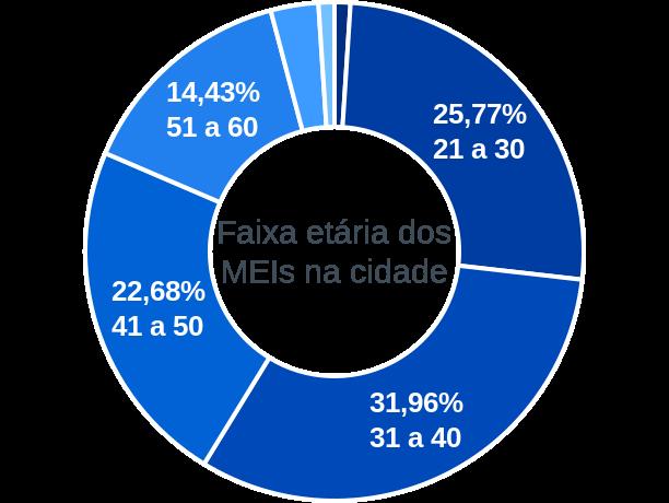 Faixa etária de MEIs na cidade de Barra de Santana