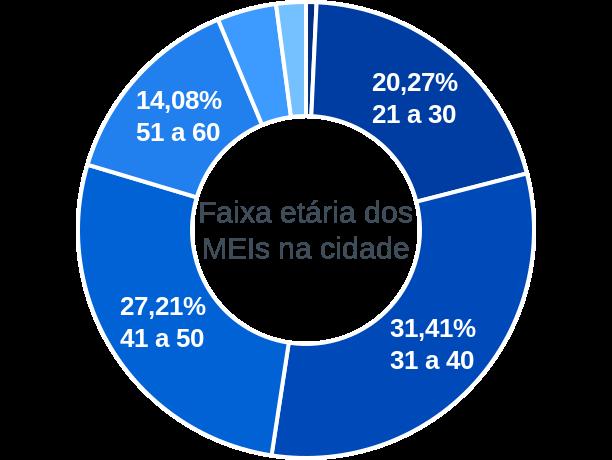 Faixa etária de MEIs na cidade de Catolé do Rocha