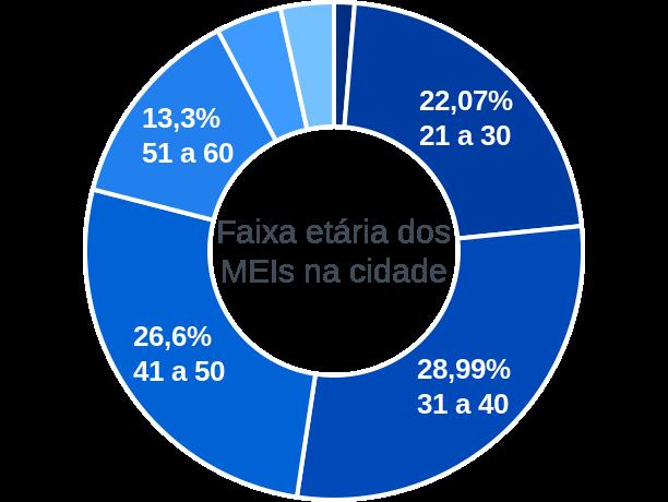 Faixa etária de MEIs na cidade de Conceição