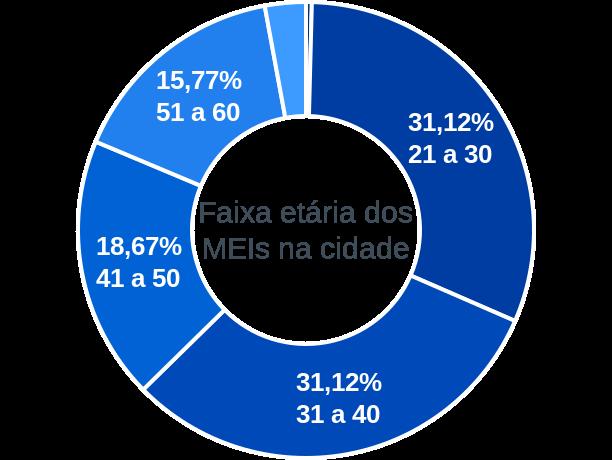 Faixa etária de MEIs na cidade de Lagoa de Dentro