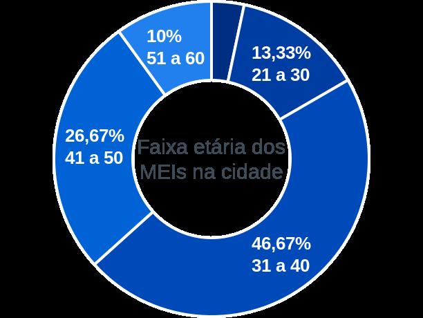 Faixa etária de MEIs na cidade de Mato Grosso