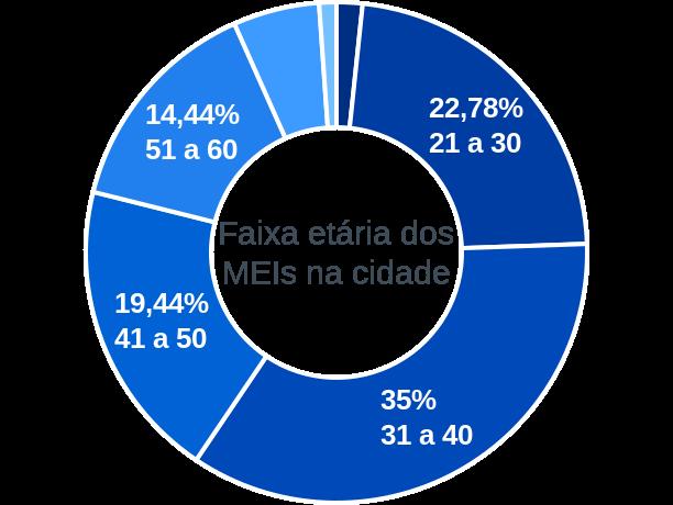 Faixa etária de MEIs na cidade de Pilões