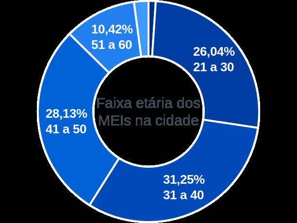 Faixa etária de MEIs na cidade de São Domingos do Cariri