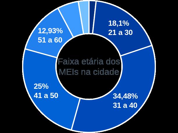 Faixa etária de MEIs na cidade de São José da Lagoa Tapada
