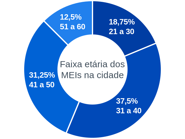 Faixa etária de MEIs na cidade de São José de Princesa