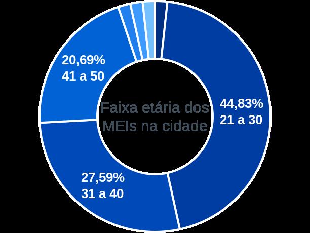 Faixa etária de MEIs na cidade de São José do Brejo do Cruz