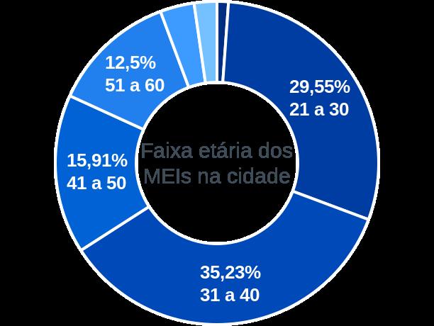 Faixa etária de MEIs na cidade de São José dos Ramos