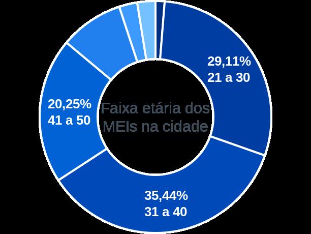 Faixa etária de MEIs na cidade de São Sebastião do Umbuzeiro
