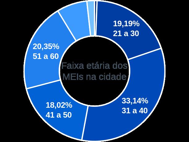 Faixa etária de MEIs na cidade de Alagoinha