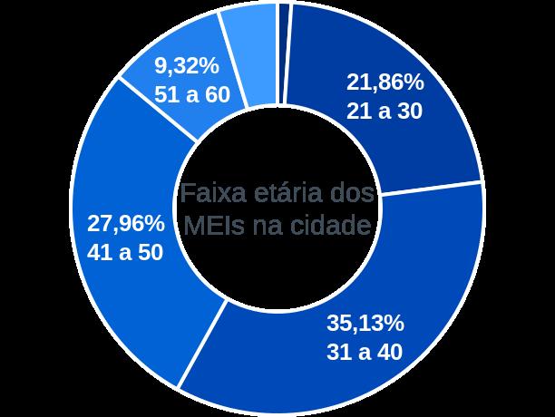 Faixa etária de MEIs na cidade de Barra de Guabiraba